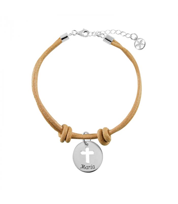 Brass bracelet knot with names