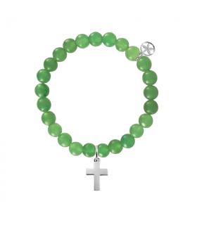 Ball bracelet with cross