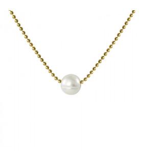 Midi choker with pearls