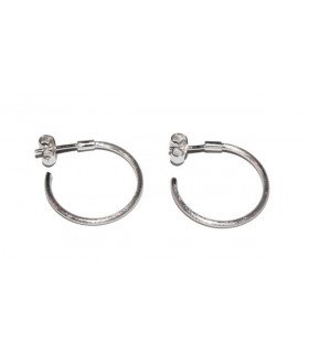 Satin silver rings