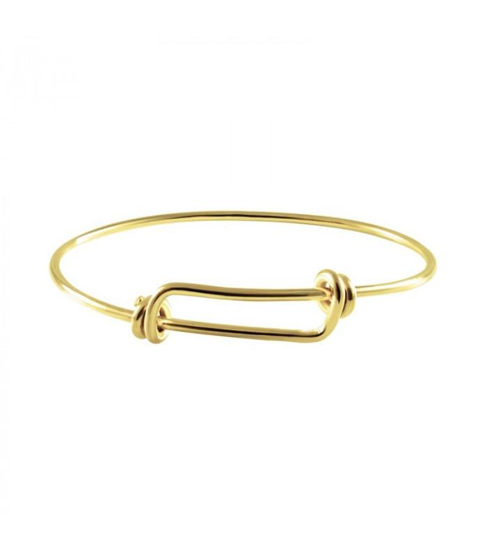 Golden sliding knot bracelet