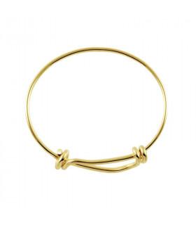 Golden bracelet with sliding knots