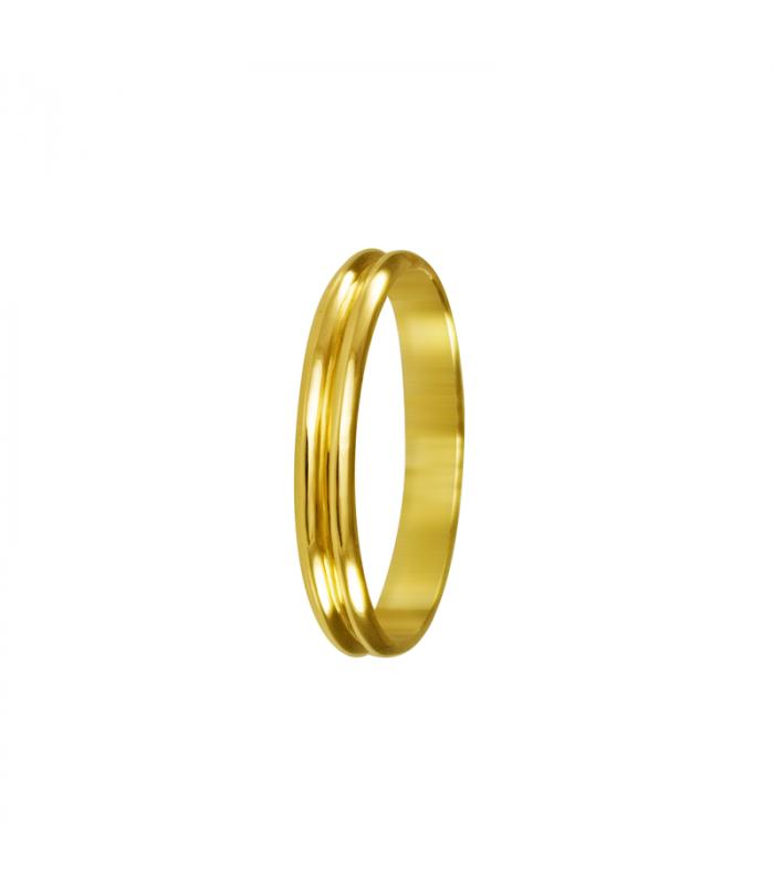 Alianza doble oro, boda.