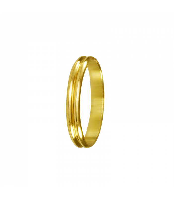 Alianza double gold wedding.