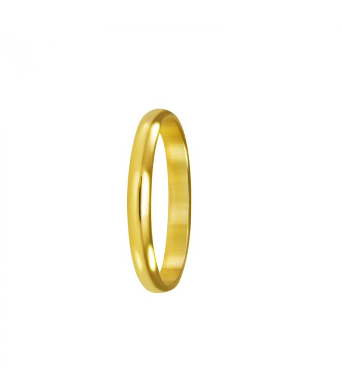 Alianza bodas regalo en oro.