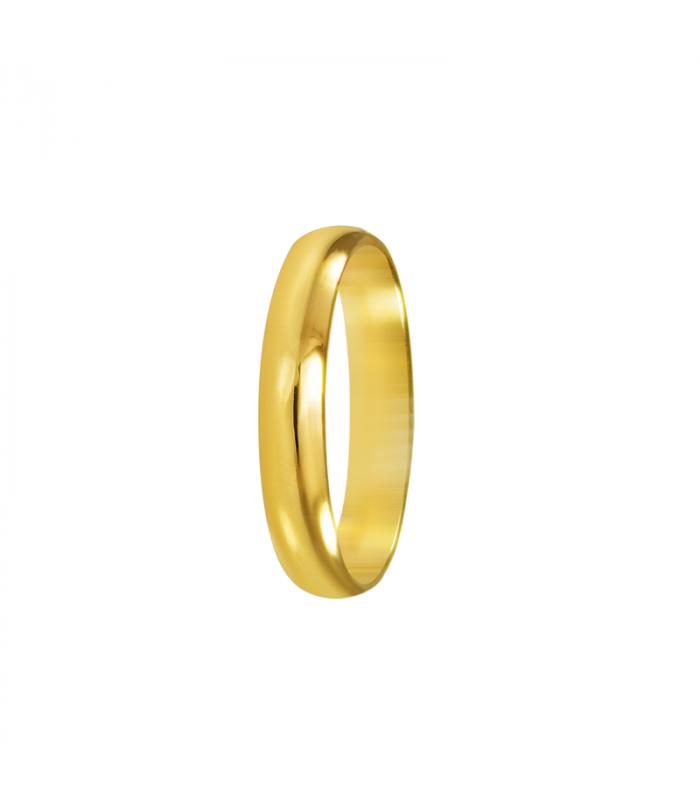Alianza oro media caña para boda.
