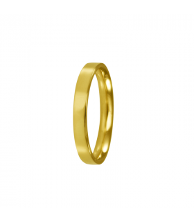 Women's flat gold wedding rings