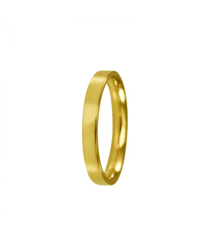Women's flat gold wedding rings