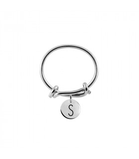 Letter S knot ring