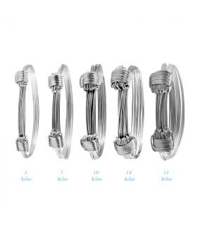 Pulseras baratas de nudos de plata