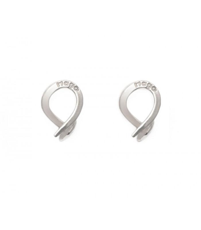 Nail earrings in sterling silver