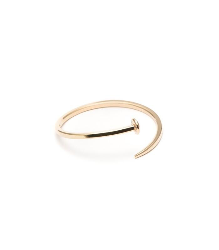 Gold plated nail bracelet