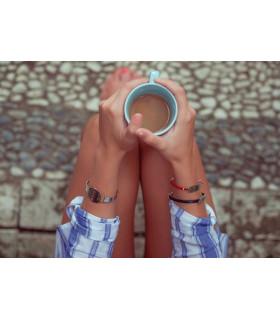 Pulsera personalizada café