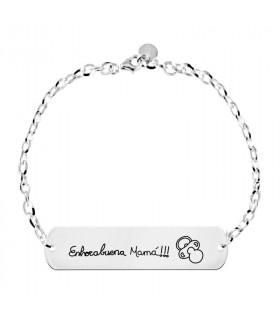 Silver bracelet whispers