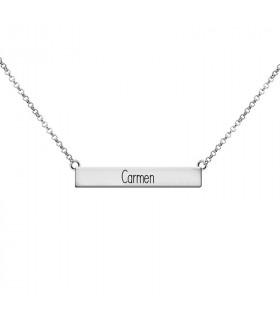 Collar de plata personalizado con nombre