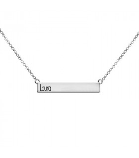 Personalized choker with name on the left.