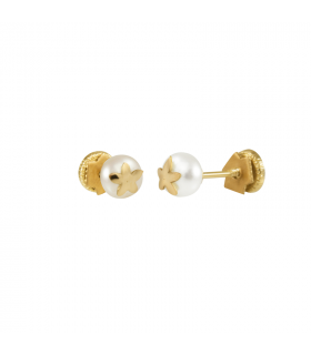 Baby earrings with jasmine