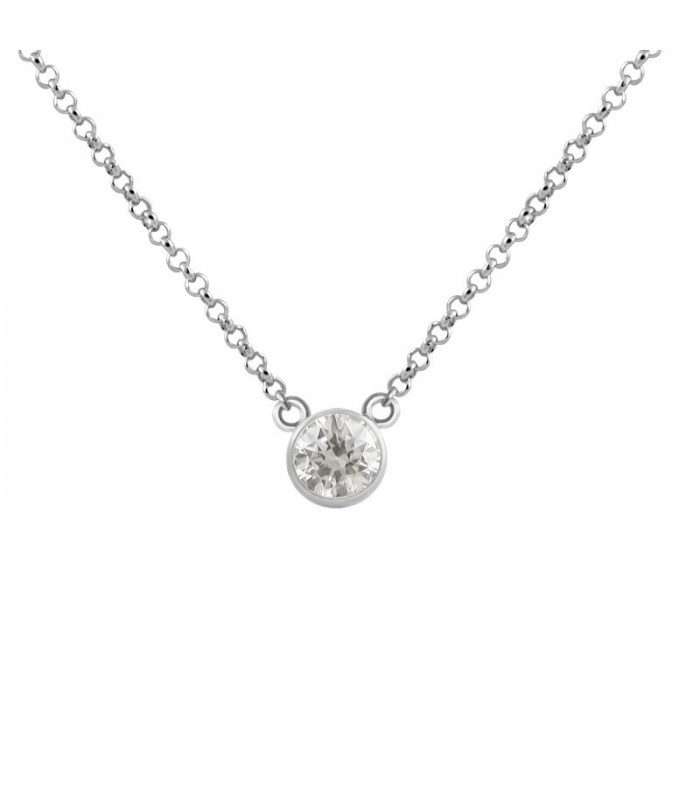 Sterling silver zirconia necklace