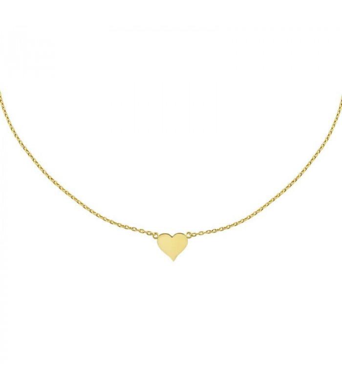 Gargantilla corazón oro