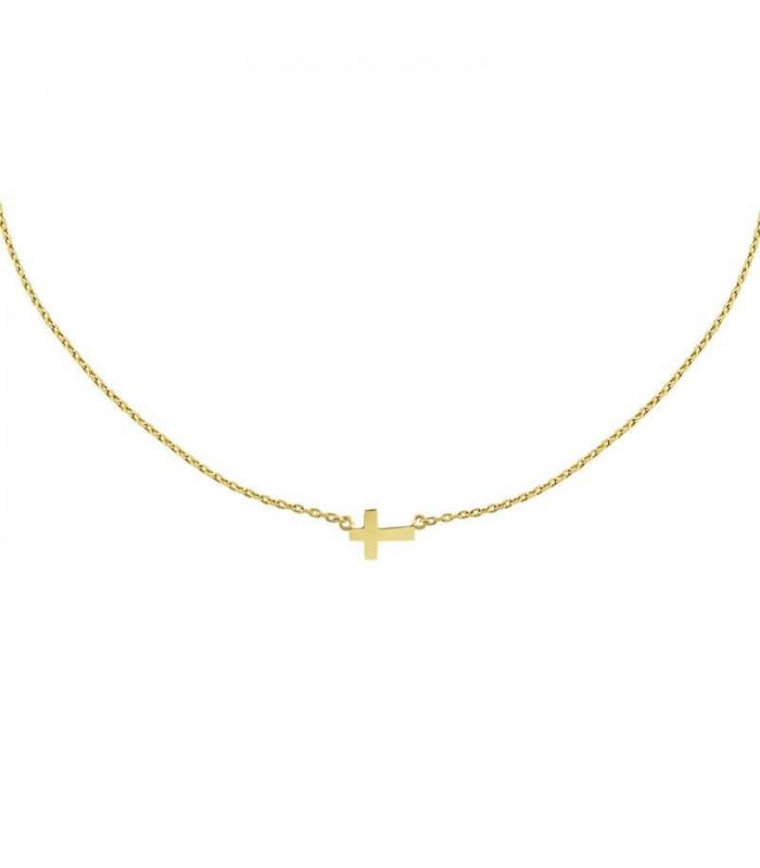 Gargantilla cruz de oro