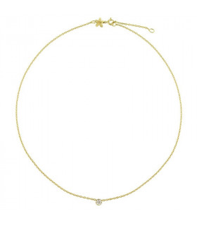 Gold zirconia necklace