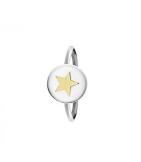 anillo personaliza estrella oro