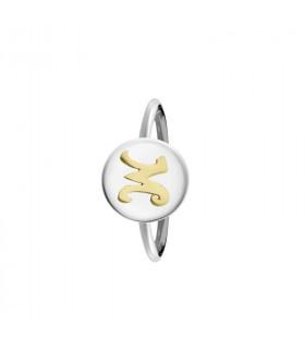 anillo personalizable inicial oro