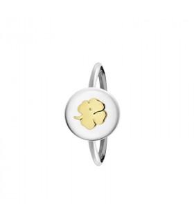 anillo personalizado trebol plata