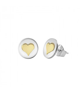 Gold heart earring