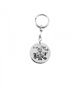 Personalized silver keychain
