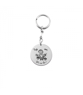 Teachers keychain in silver