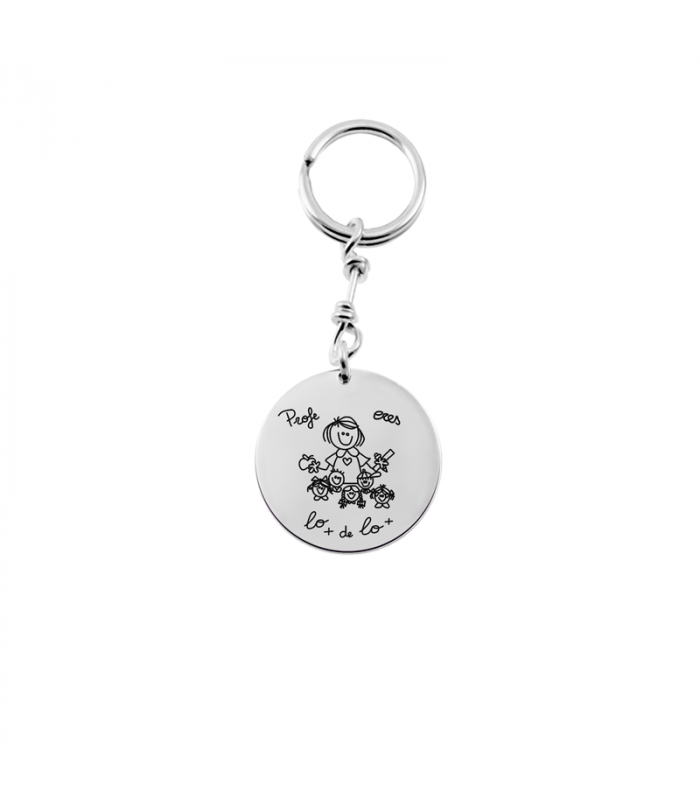 Teachers keychain in silver