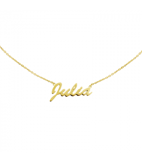 Name gold necklace