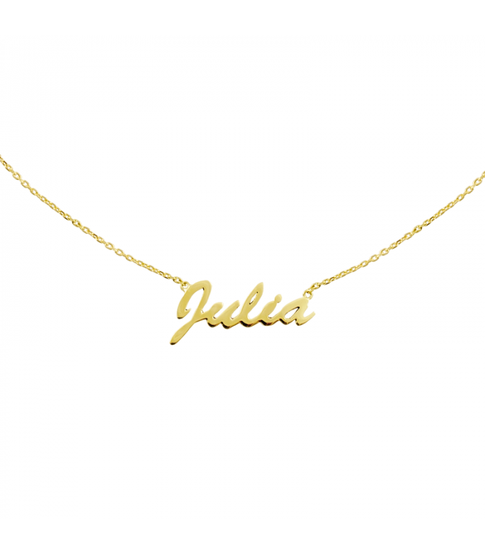 Gargantilla nombre oro