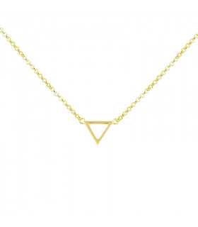 Gold plated triangle choker