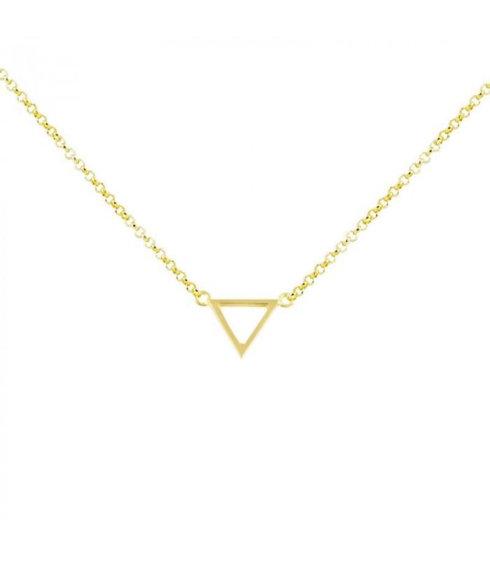Gargantilla triangulo oro baño