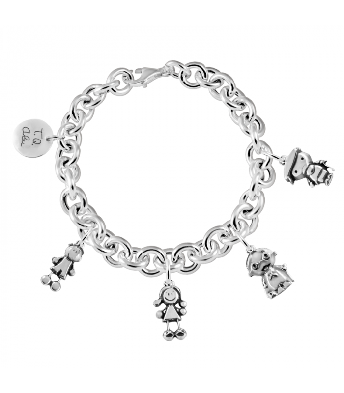 Grandmother bracelet in silver, the best gift.