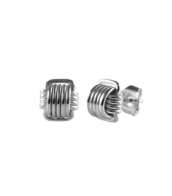 Silver knot earring