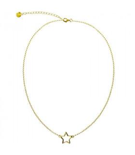 Collar estrella silueta chapado de oro