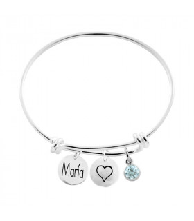 Personalized medal bracelet with names