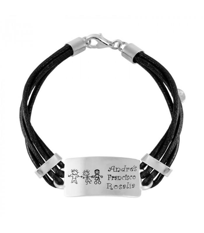 Men's silver name bracelet