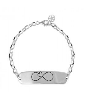 Silver bracelet whispers...