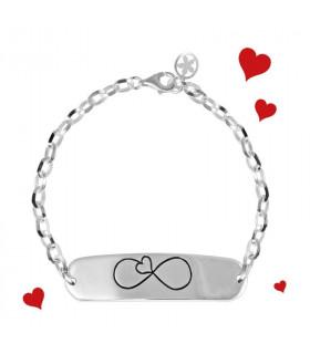 Personalized infinity bracelet