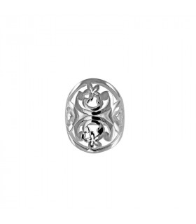 Silver flourish ring