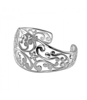 Cheap openwork floral bracelet