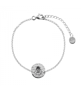 Silver bracelet with angel