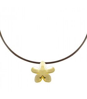 Jasmine gold-plated necklace
