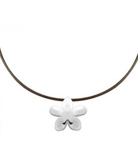 Silver jasmine necklace