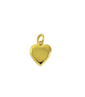 Colgante corazón dorado