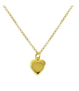 Collar colgante corazón dorado